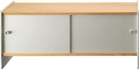 Szafka niska Theca 93 cm drewno aluminium wiśnia