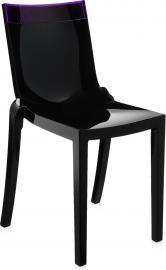 Krzesło Hi-Cut czarne z fioletowym paskiem