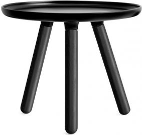 Stolik Tablo 50 cm czarny z czarnymi nogami