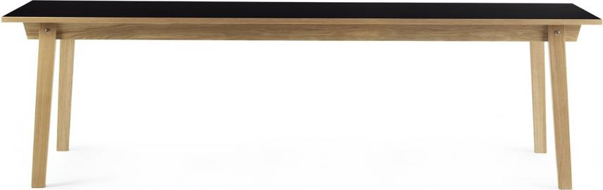 Stół prostokątny Slice 90x250 cm czarny