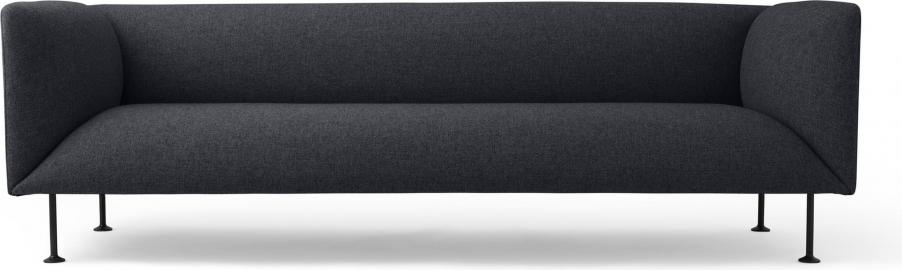 Sofa trzyosobowa Godot Dark Grey Melange