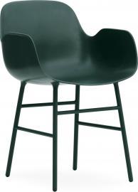 Fotel Form stalowe nogi ciemnozielony