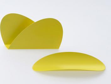 Organizer na biurko Ellipse 2 szt. żółty