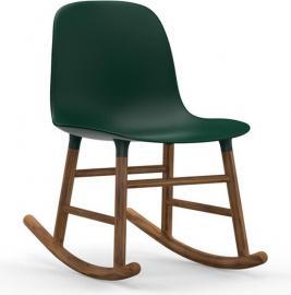 Krzesło bujane Form drewno orzechowe zielone