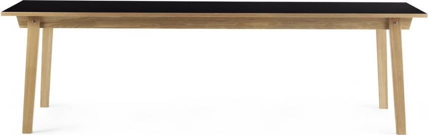 Stół prostokątny Slice 90x300 cm czarny