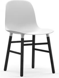Krzesło Form białe czarna dębowa rama