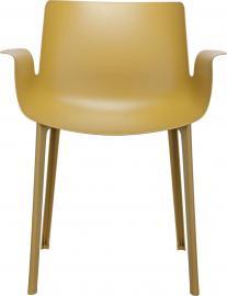 Krzesło Piuma musztardowe