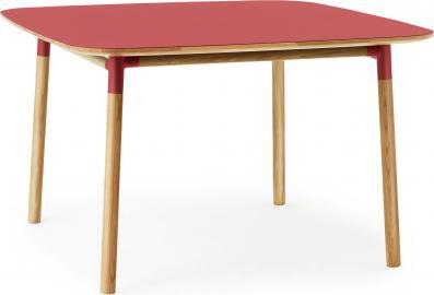 Stół Form 120x120 cm czerwony