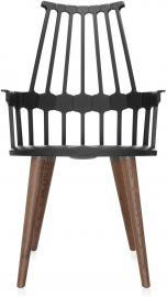 Krzesło na drewnianych nogach Comback czarne