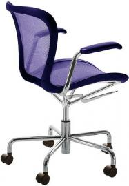 Fotel na kółkach Annett fioletowy