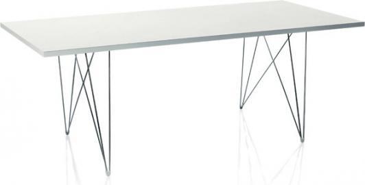 Stół XZ3 prostokątny biały blat chromowana rama