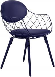 Krzesło Pina niebieskie, materiał Steelcut 2, nogi niebieskie
