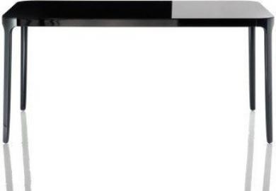 Stół Vanity prostokątny 140 cm czarna rama czarny blat