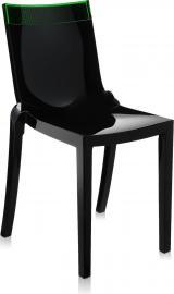 Krzesło Hi-Cut czarne z zielonym paskiem