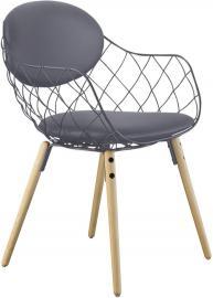 Krzesło Pina szare, materiał Steelcut 2, nogi jesion