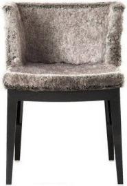 Krzesło Mademoiselle Kravitz futro pyton przeźroczysty korpus