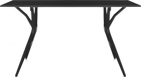 Stół Spoon 140 cm czarny blat czarna rama