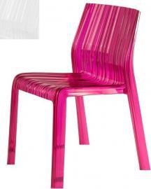 Krzesło Frilly nieprzeźroczyste lśniąca biel
