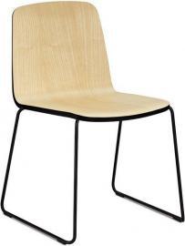 Krzesło Just naturalne z czarnym wykończeniem
