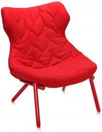 Fotel Foliage czerwona rama czerwony poliester