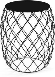 Stolik kawowy Pina czarny z czarnym blatem z HPL