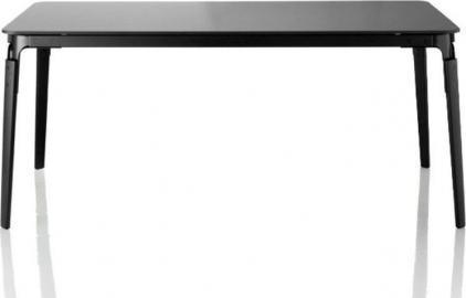 Stół Steelwood prostokątny rama czarna blat czarny