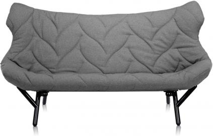 Sofa Foliage czarna rama szara wełna