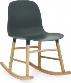 Krzesło bujane Form drewno dębowe zielone