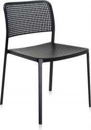 Krzesło Audrey czarna rama czarne siedzisko