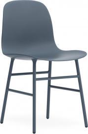 Krzesło Form stalowe nogi niebieskie