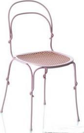 Krzesło Vigna rama ciepły szary siedzisko curry