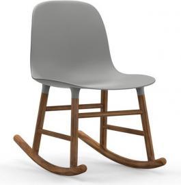 Krzesło bujane Form drewno orzechowe szare