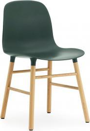 Krzesło Form zielone dębowa rama