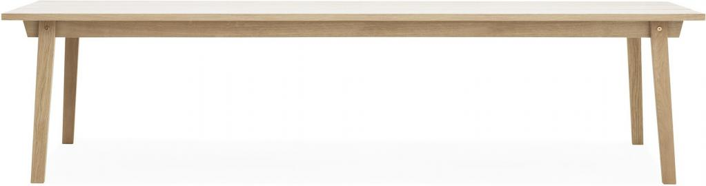 Stół prostokątny Slice 90x300 cm dębowy