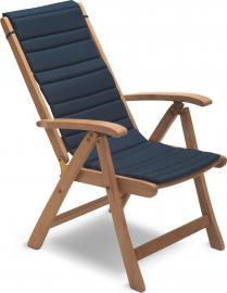 Poduszka na krzesło Columbus granatowa