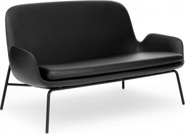 Sofa Era na stalowych czarnych nogach skóra Tango Leather
