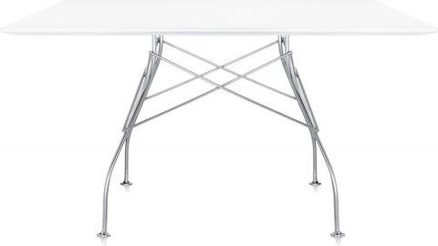 Stół Glossy z kwadratowym blatem lśniący biały