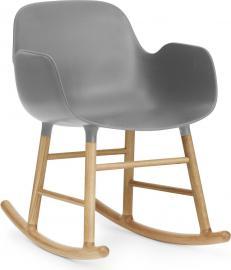 Fotel bujany Form drewno dębowe szary