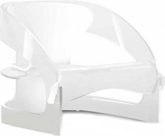 Fotel Joe Colombo nieprzeźroczysty biały