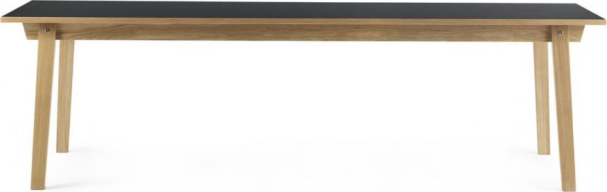 Stół prostokątny Slice 90x250 cm szary