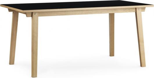 Stół prostokątny Slice 84x160 cm czarny