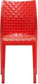 Krzesło Ami Ami nieprzeźroczyste czerwień Kartell
