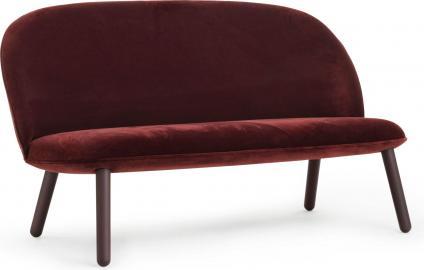 Sofa Ace welur ciemnoczerwona