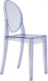 Krzesło Victoria Ghost niebieskie