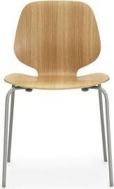 Krzesło My Chair dąb ciemnoszare nogi