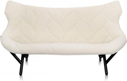 Sofa Foliage czarna rama biały poliester