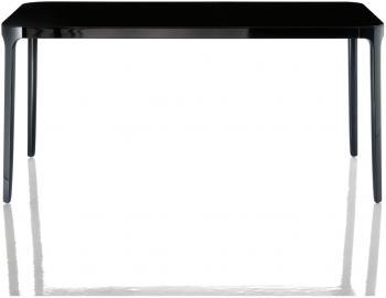Stół Vanity kwadratowy 140 cm czarna rama czarny blat