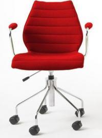 Krzesło na kółkach Maui Soft czerwone