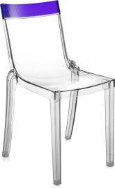 Krzesło Hi-Cut przezroczyste z fioletowym paskiem