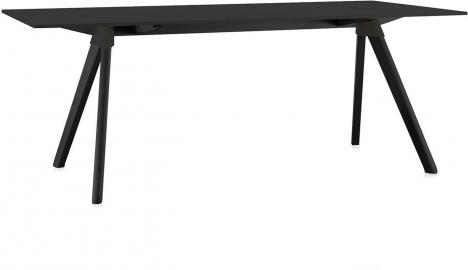 Stół Butch 180 x 90 rama czarna blat czarny